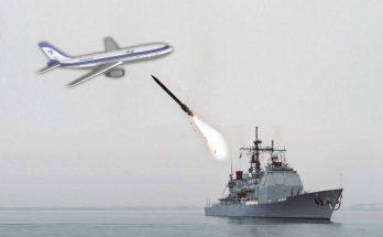 USS Vincennes qui tire un missile