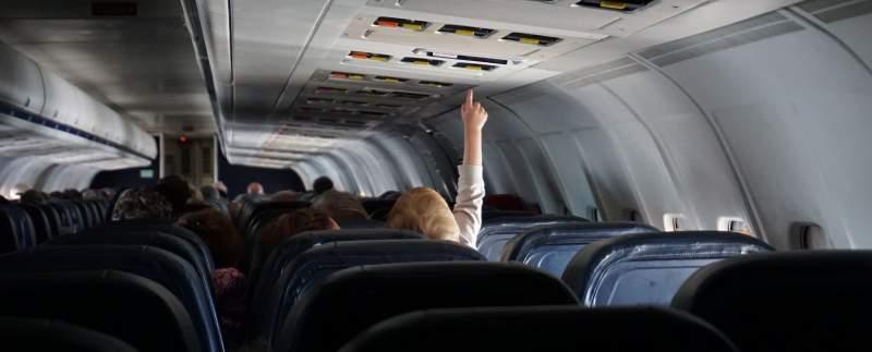 Passagers d'un avion