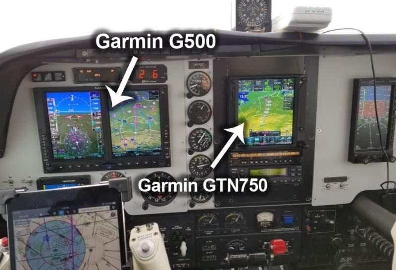 Cockpit équipé Garmin