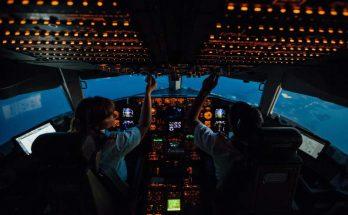 Cockpit d'un avion de ligne
