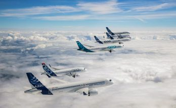 vol en formation airbus